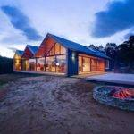 Contemporary House Three Gable Roofs Tasmania Modern Home