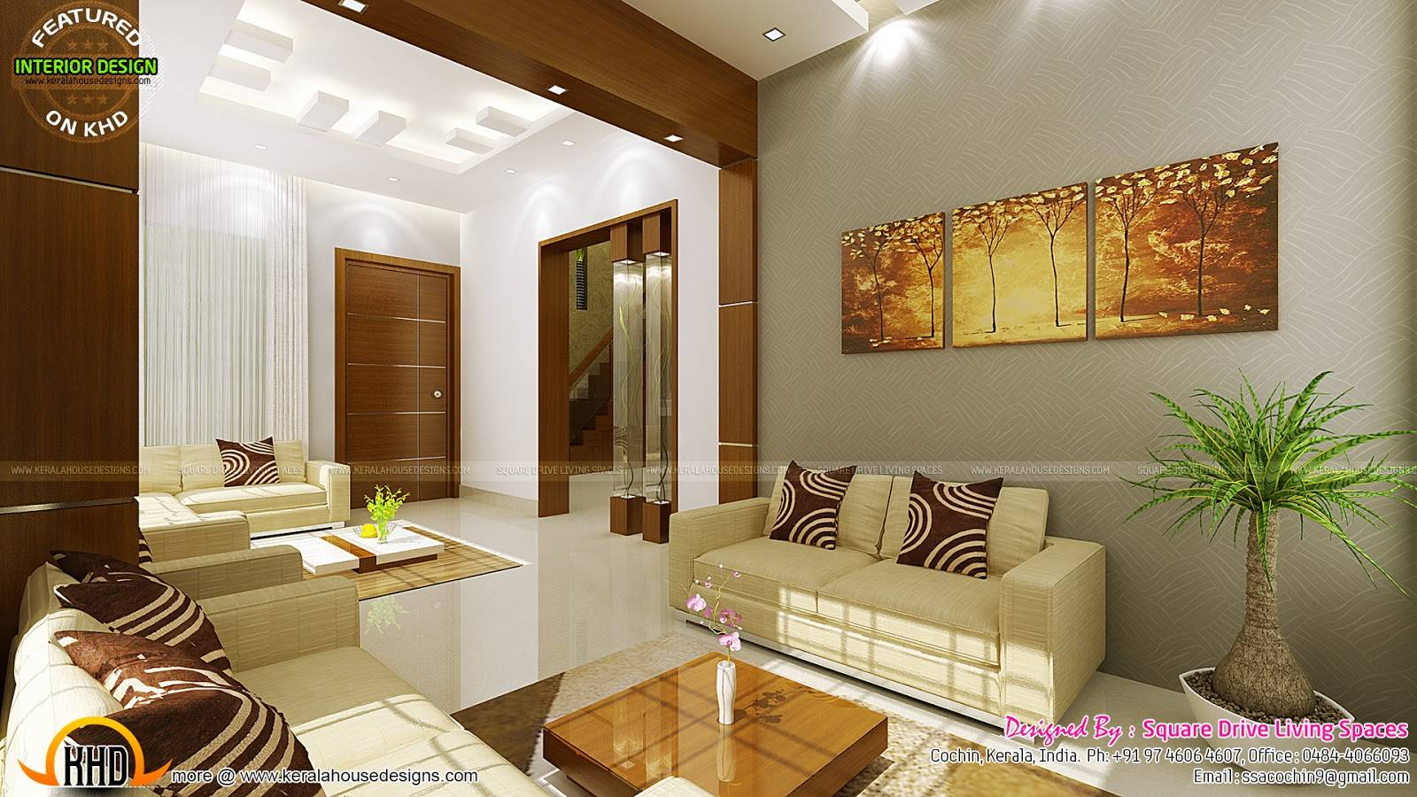 Contemporary Kitchen Dining Living Room Kerala Home House Plans 152321