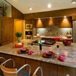 Contemporary Kitchen Island Features Beautiful Extra Wide
