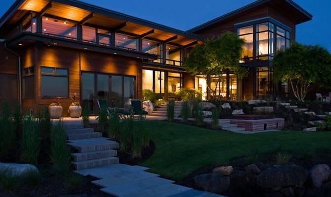 Contemporary Lake House Plans Modern Design