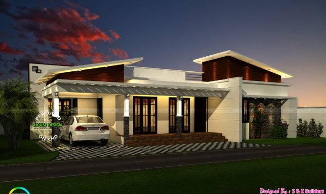 Contemporary Look Single Floor Kerala Home