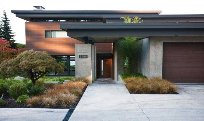Contemporary Mercer Island Lake House Infused Asian