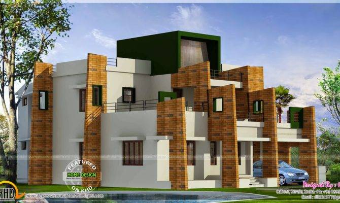 Contemporary Model Home Kerala Plans