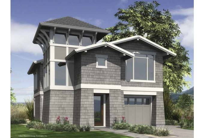 Contemporary Modern House Plan Urban Infill Design - House ...