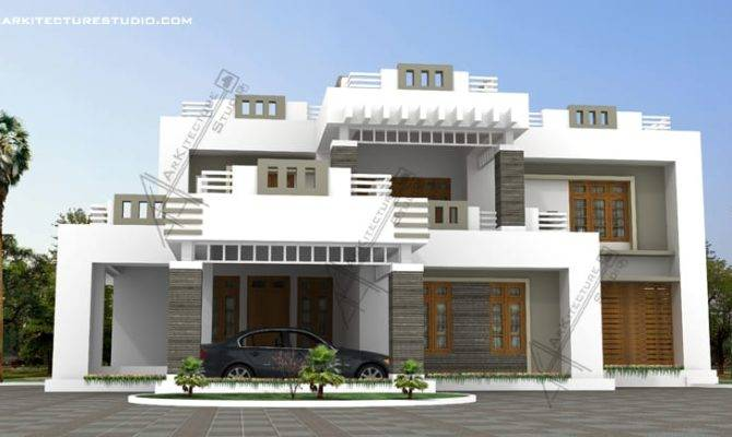 Contemporary Modern Style Kerala House Design Sqft