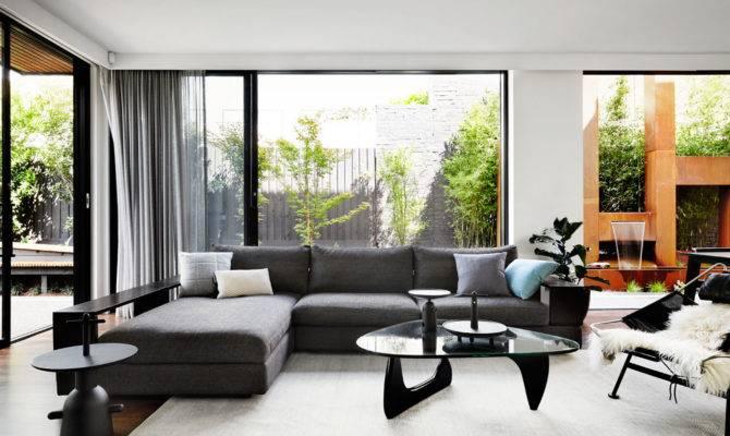 Contemporary Monochromatic Home Melbourne Sisalla