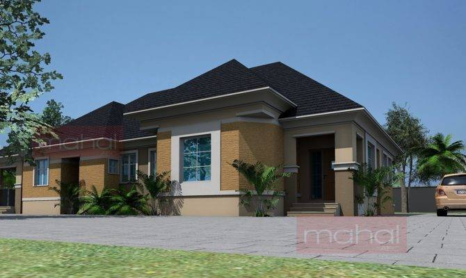 Contemporary Nigerian Residential Architecture Bedroom Bungalow