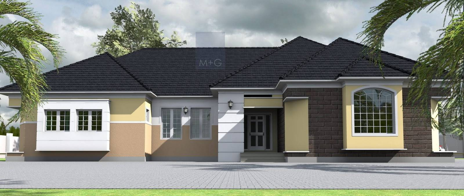 Contemporary Nigerian Residential Architecture Bedroom House Plans 166016
