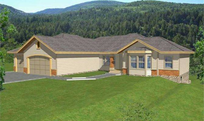 Contemporary Ranch Law Suite House Plans Home