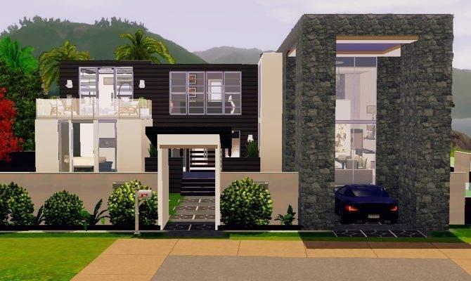 Contemporary Sims Beach House Plans All