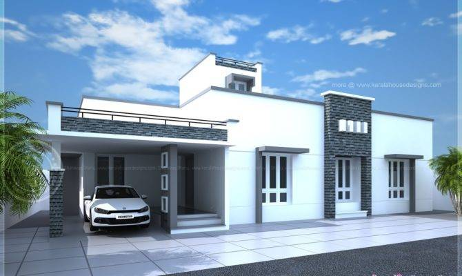 Contemporary Single Floor Home Kerala