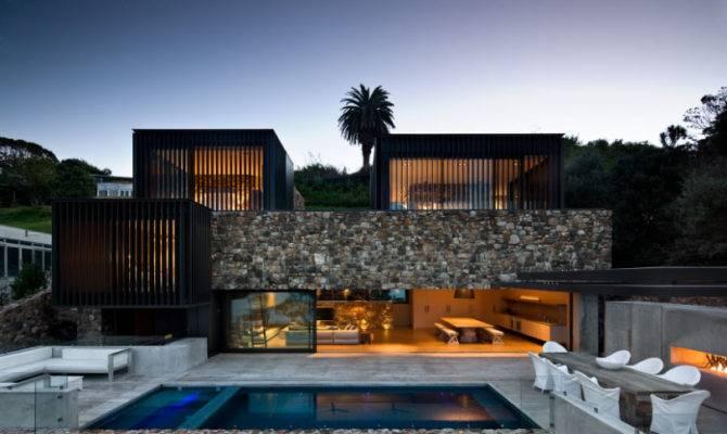 Contemporary Stone House Rocks Decoholic