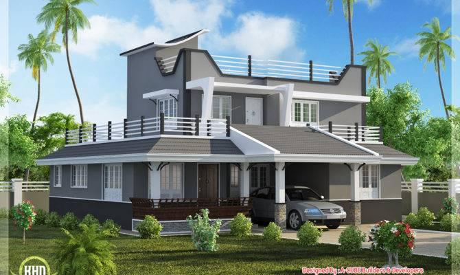 Contemporary Style Bedroom Home Plan Kerala Design Floor