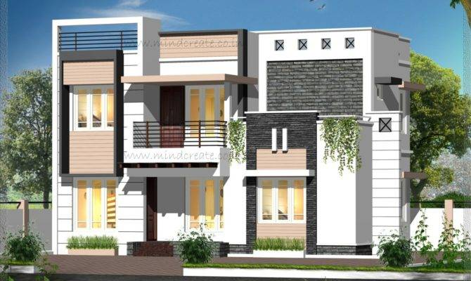 Contemporary Style Elevation House Plans Archives Kerala