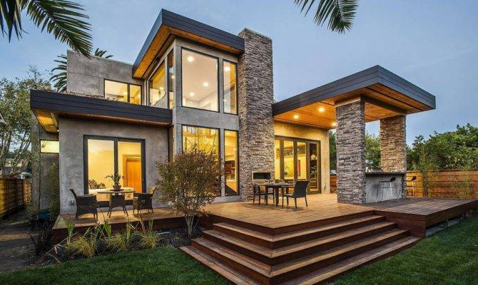Contemporary Style Home Burlingame California Architecture