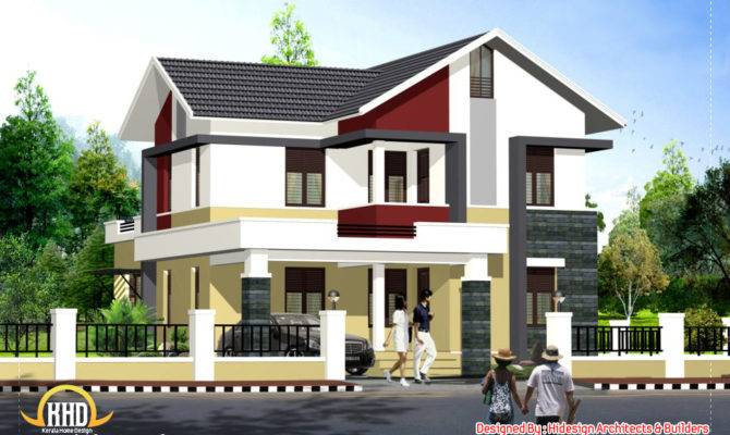 Contemporary Style Home Kerala Design Floor