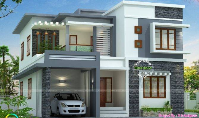 Contemporary Style Home Plans Kerala Beautiful Flat