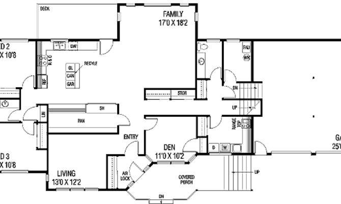 Contemporary Tri Level Home Floor Master