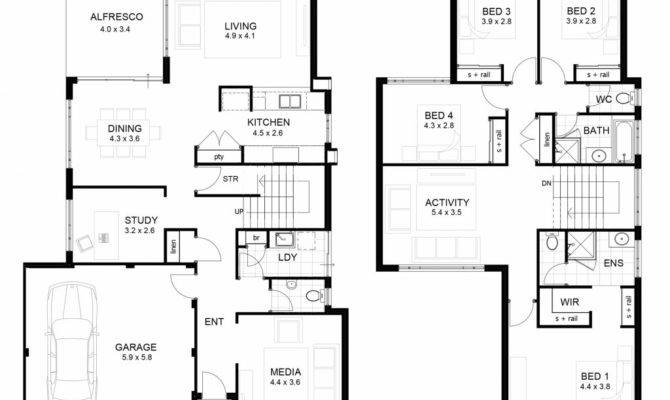 Contemporary Two Story Home Floor Plans Plan