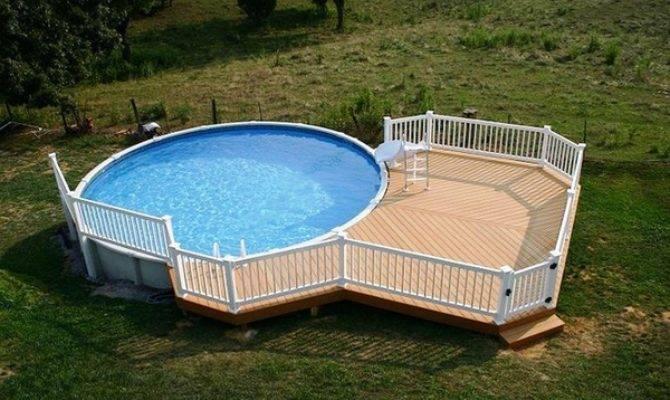 Cool Above Ground Pools Decks Modern Backyard