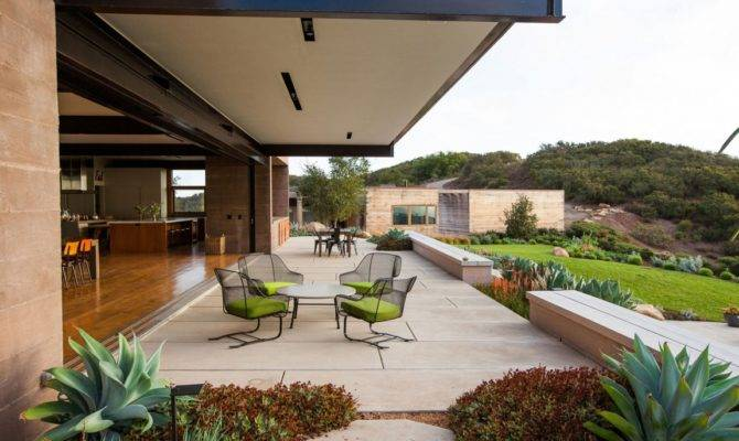 Cool Concrete Patio Designs Houses They Complement