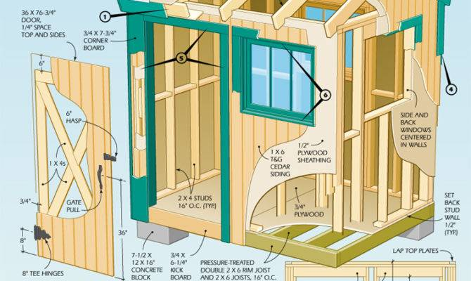 Cool Shed Designs Plans Blueprints
