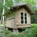 Cordwood Writer Cabin Sweden Construction