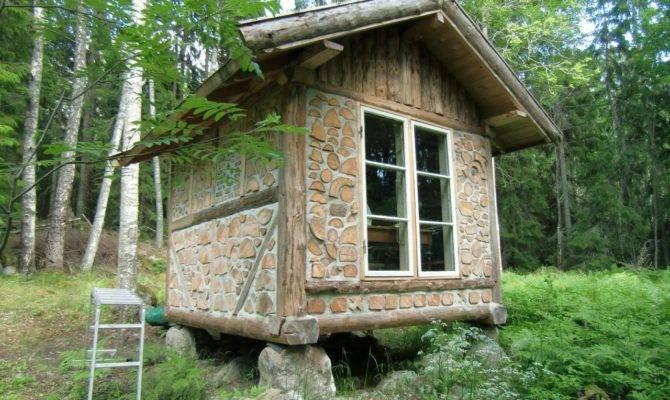 Cordwood Writer Cabin Sweden Construction
