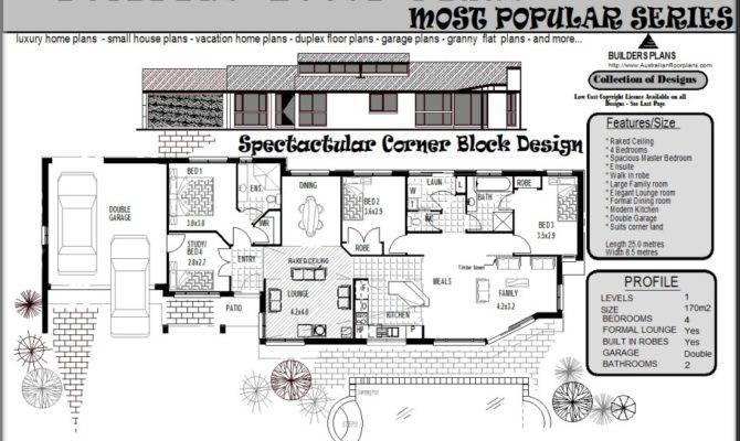 Corner Block Home Designs Over House Plans