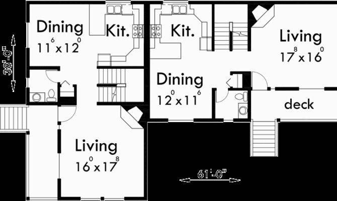 Corner Lot Duplex House Plans Bedroom