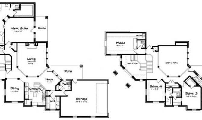 Corner Lot Plan Unique Split Stairs House Plans Floor