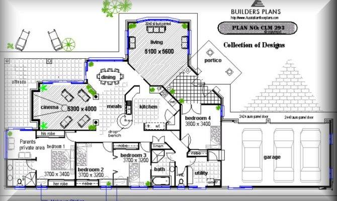 Corner Narrow Block Floor Plan Building House Designs Plans