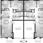 Cornerstone Place Duplex Home Plan House Plans More