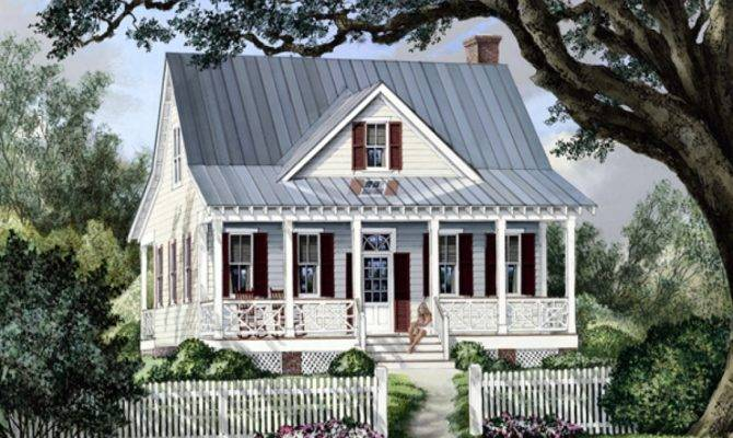 Cottage Country Farmhouse Plan French