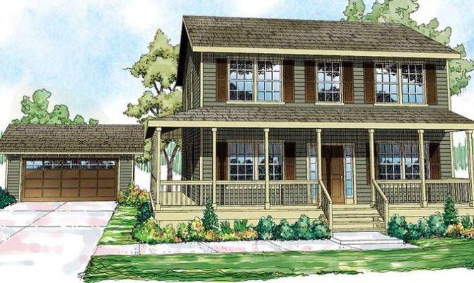 Cottage Country Florida Saltbox Traditional House Plan