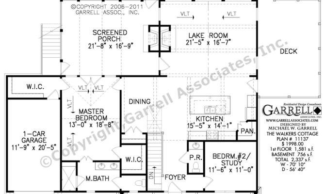 Cottage House Plan Floor Southern Style Plans
