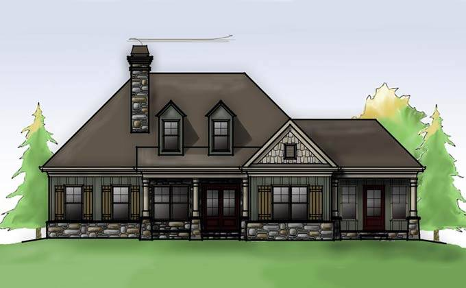 cottage house plan porches max fulbright designs house