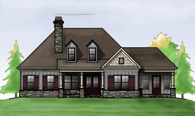 Cottage House Plan Porches Max Fulbright Designs