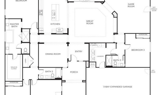 Cottage House Plans Houseplanscountry Open Floor Plan