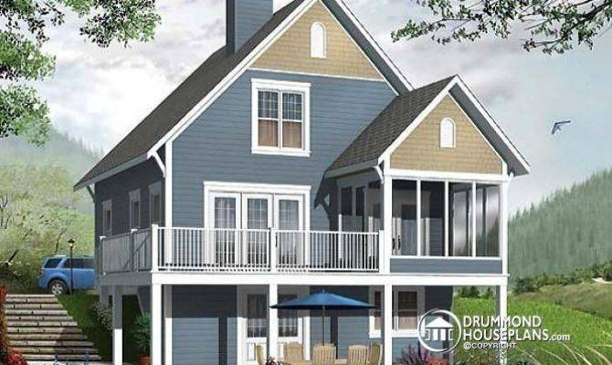 Cottage House Plans Walkout Basement Unique