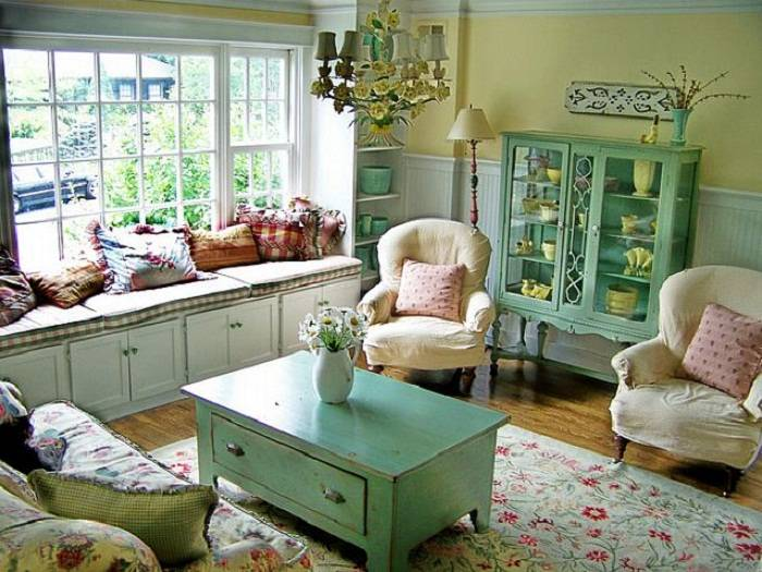 Cottage Living Room Decorating Ideas Country Decor House Plans 21072