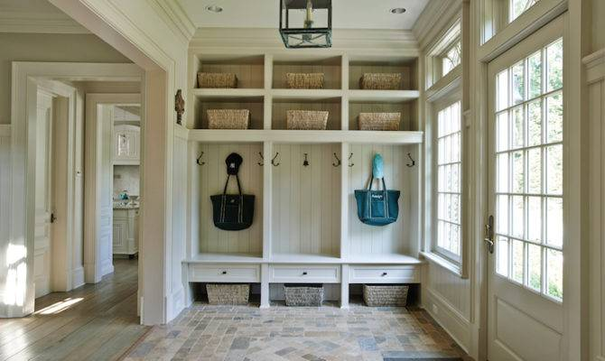 Cottage Mudroom Lighting Lantern Brick Floor