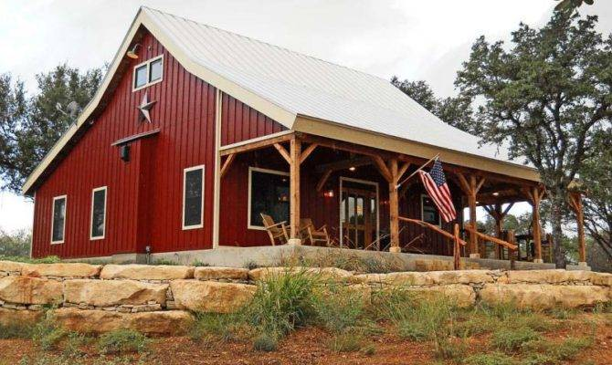Country Barn Home Kit Open Porch Metal Building