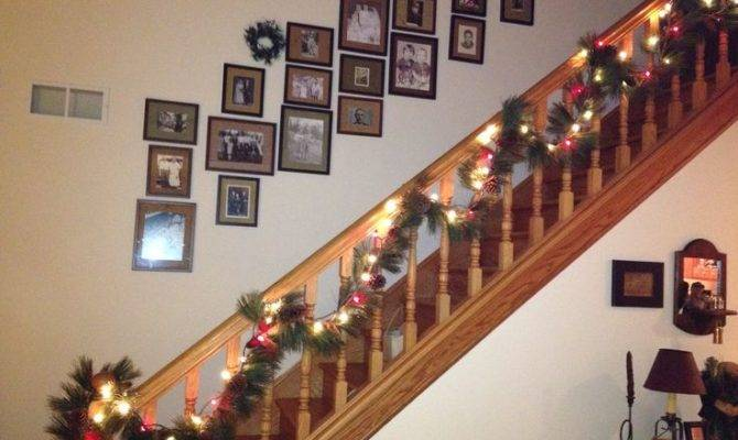 Country Christmas Staircase Decor Best