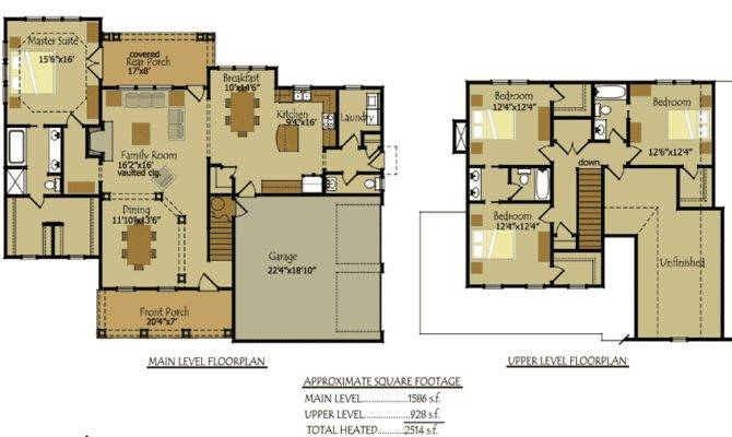 Country Cottage Style Floor Plans Chattahoochie River House House Plans 70905