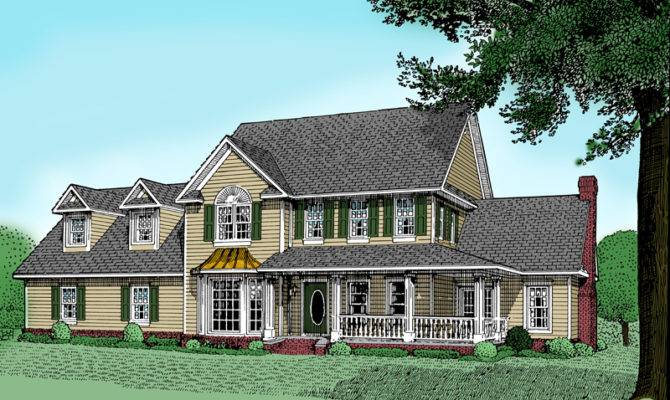 Country Farmhouse Victorian House Plans