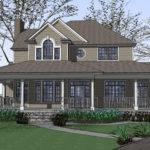 Country Farmhouse Wrap Around Porch Plan Maverick