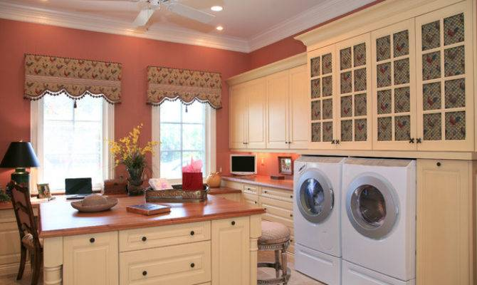 Country French Estate Traditional Laundry Room Miami