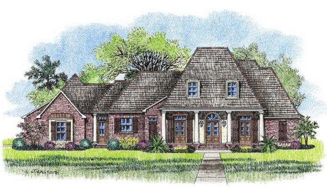 Country French House Plan Over Square Feet Hattiesburg