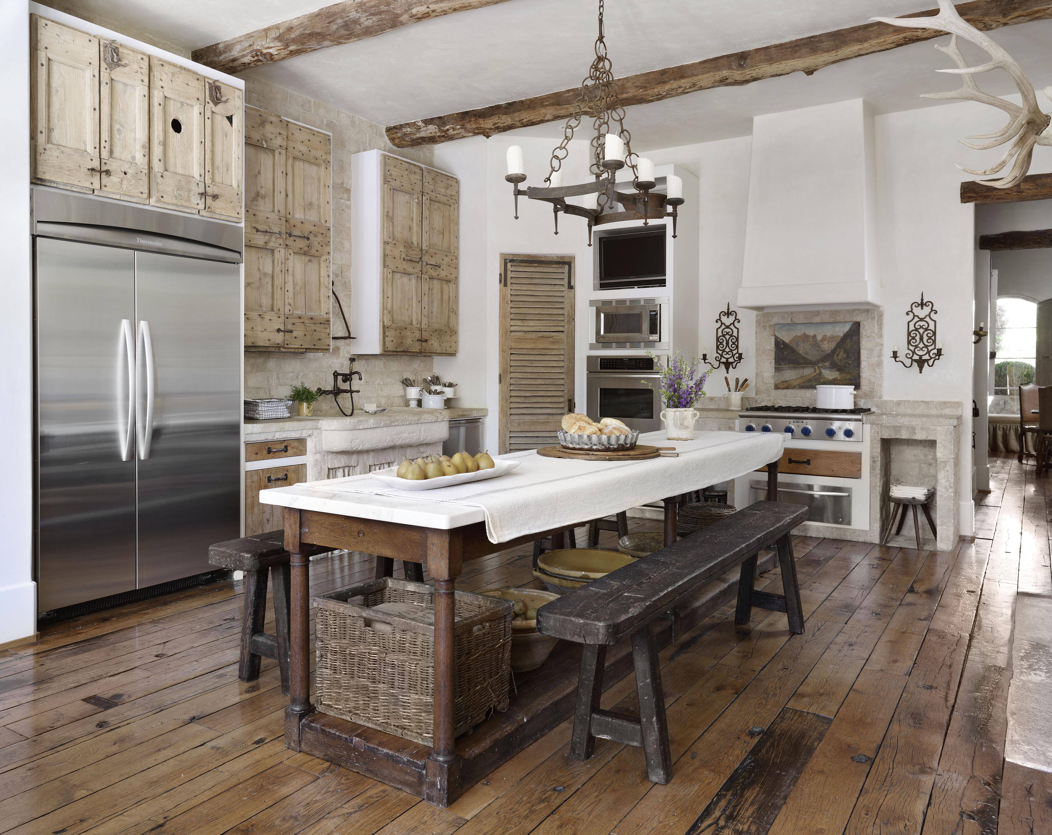 Country French Kitchens Traditional